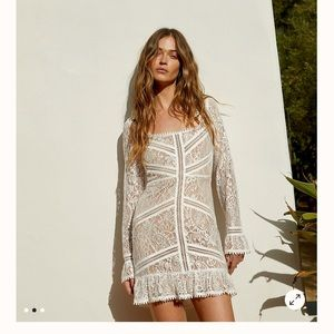 ISO for love and lemons emerie mini dress size S